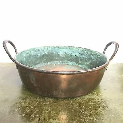 Antique Victorian Copper Jam / Preserving Pan Excellent Country Piece