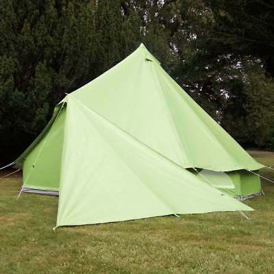 Boutique Camping Bell Tent Triangle Tarp - Green