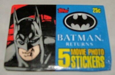 Batman Returns Movie Photo Stickers - Sealed Wax Packet