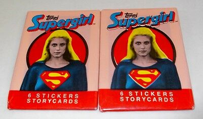 Supergirl Storycard Stickers Two Sealed Wax Packets -  Stickers