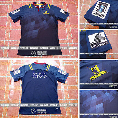 2016 New Zealand NRL Jersey Highlanders Rugby Jersey