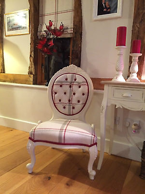 spoon back Chair Vintage Newly Upholstered in Laura Ashley Loxley