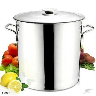 New Large 17L Stainles Steel Stock Pot Sauce