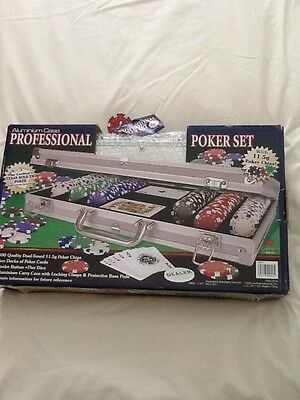 Professional texas hold em poker set with aluminium case new