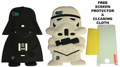 3D Star Wars Darth Vader Stormtrooper Silicone Case For Apple iPod Touch 5 & 6