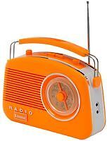 Steepletone Brighton Orange 1950 Retro Style 3 Band Portable Radio FM MW LW NEW