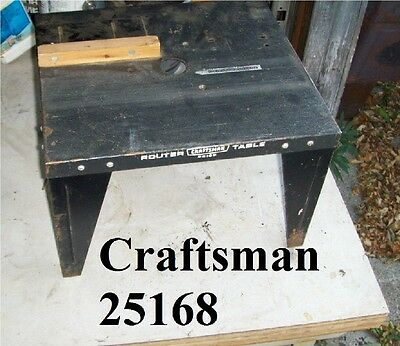 Craftsman Router Table model 25168 Used Item shown Sold as is free shipping