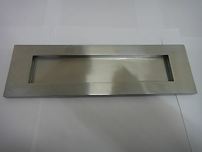 "VICTORIAN SPRUNG LETTER PLATE / LETTER BOX 10""x3"" SATIN CHROME / NICKEL FINISH"