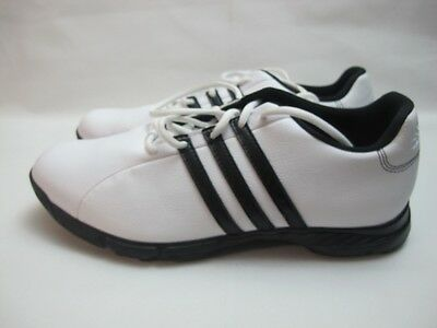 Mens Adidas Golflite White Lace Up Golf Sport Shoes UK 10.5 EUR 45.5