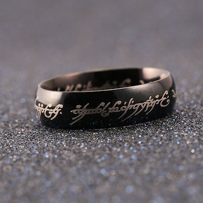 6MM Lord of the Rings The One Ring Lotr Titanium Steel Men Women Ring Size 8
