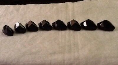 Vintage Black Glass Two Hole Buttons