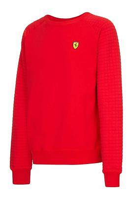 Sale! Ferrari F1 Formula One Team Mens Sweatshirt with Quilted Sleeves Jumper