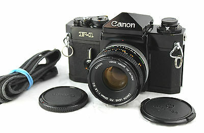 CANON F-1 35mm Classic Film Camera with Canon 50mm 1:1.8 S.C. Prime Lens.