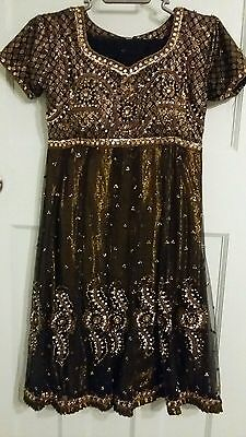 Black anarkali suit size 8