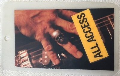 Keith Richards 1993 Main Defender Tour-special plastic all access laminate pass
