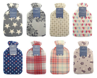 Choice 8 Designs Funky Snuggly Hot Water Bottle with Soft Fleece Appliqué Cover