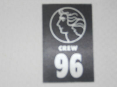 Barry Manilow - # ninety-six Special Crew pass - satin #96 - color black