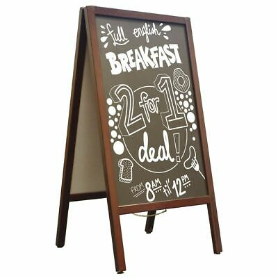 Wooden Chalkboard Blackboard Pavement Display Sign A-Board