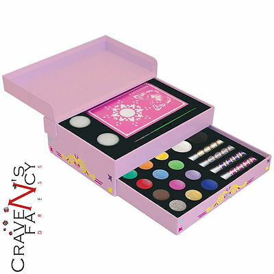 Snazaroo Small Jewellery Box Gift Set Face Paint Kit Painting Party Make up New