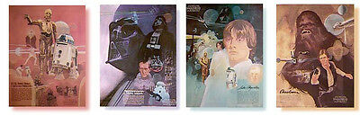 Set Of 4 Vintage Star Wars Posters 1977 - Burger Chef/coca-Cola--New Old Stock!