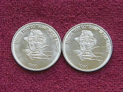 """2 Things that go """"Bump"""" in the Knight Mardi Gras Doubloons - 1990"""
