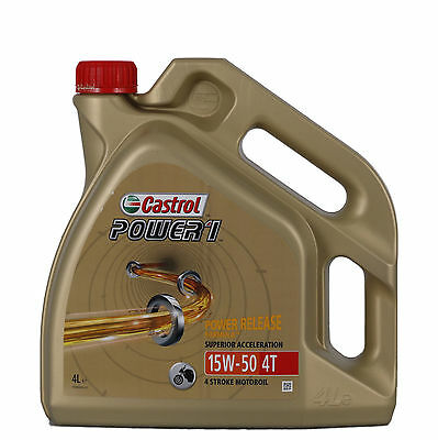 Castrol POWER 1 4T 15W-50 Can - 4 Litre