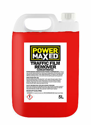 Power Maxed Traffic Film Winter Salt Remover 5 Litre Concentrate Dilute 50:1