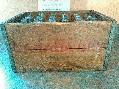 Canada Dry Bottles and Canada Dry wood case(complete case..Rare, Vintage
