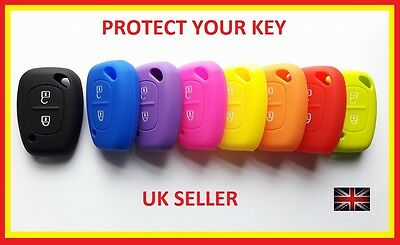 Renault 2 Button Key Trafic Master Kangoo Case Cover Fob Remote Silicone Van