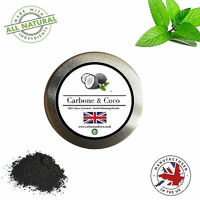 Carbone & Coco™ Coconut Charcoal Activated Whitening Tooth Teeth Powder 30ML
