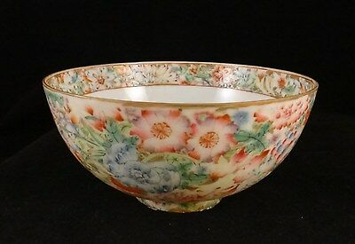 Antique Chinese footed painted enamel porcelain bowl. Lt. Qing/Republic. 5 1/8""