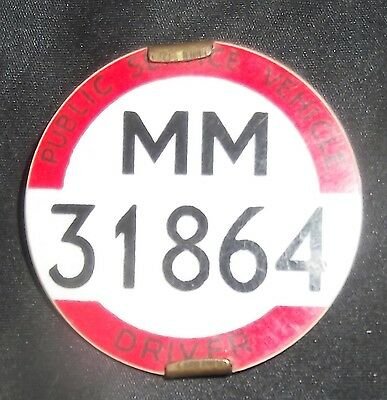 vintage scottish bus driver/conductor numbered badge