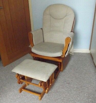 Nursing/Rocking Glinding Chair with Gliding foot Stool