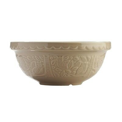 "Mason Cash Ceramic Mixing Bowl - 10"" - Stone/Owl"