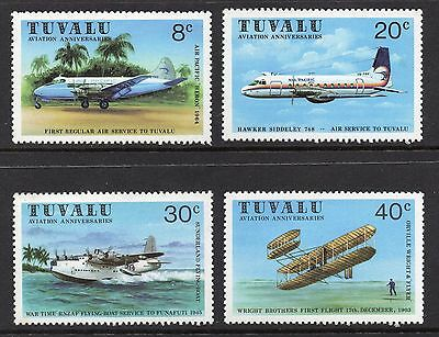 Tuvalu 1980 Aviation Commemorations SG 153 - 156 unmounted mint