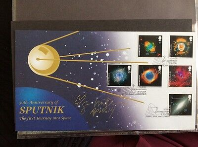 Sputnik First Day Cover. Signed Edgar Mitchell - Apollo 14