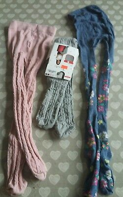 3 pairs of tights age 4-5