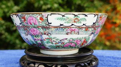 Charming Vintage Chinese Canton Bowl.