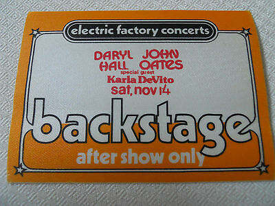 Hall & Oates w/Karla DeVito - backstage pass after show - Tower Theater