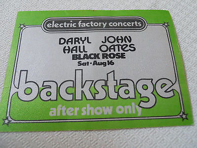 Hall & Oates w/Black Rose -backstage pass AFTER SHOW ONLY -Tower Theater