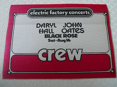 Hall & Oates w/Black Rose -backstage CREW pass  -Tower Theater
