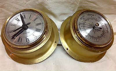Ships Clock and Barometer - Made In Germany