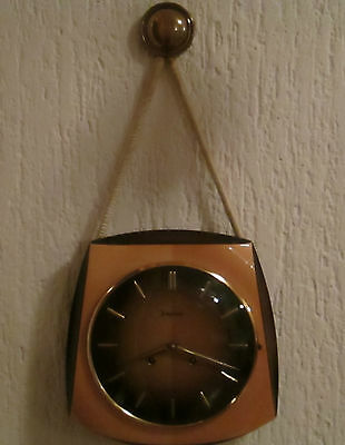 Beautiful JUNGHANS Mechanical Wall Clock ART DECO Style