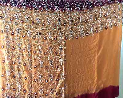 Ladies indian saree red, orange ombre, great condition