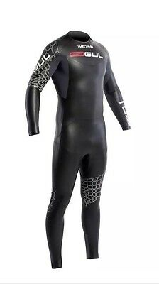GUL Waterman Mens Black/Graph 2015 5/4mm Triathlon Swimming Wetsuit Small S BNWT
