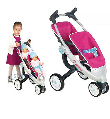 Quinny 3 Wheel Dolls Twin Pushchair Foldable  kids Xmas Gift