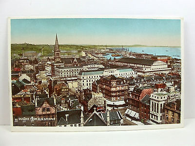 POSTCARD: Dundee from Old Steeple, Scotland; Valentine's; Unposted