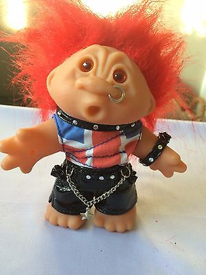 "Dam Troll 1986 Punk Rocker Red Hair Vintage 5"" Tall"
