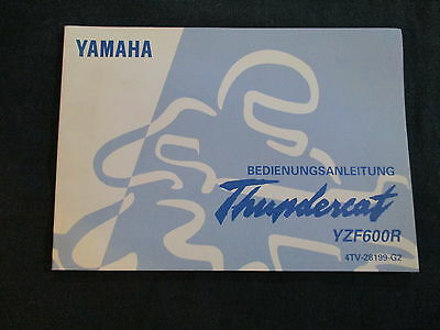 Driver's guide Yamaha YZF 600 R (4TV) Thundercat Model year 1998