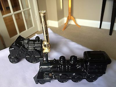 Two Empty Avon Aftershave Perfume Bottles Train and Steam Engine